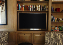 Library ultra-thin Samsung TV bookshelf mount